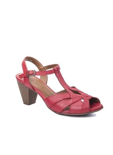 Beta Topuklu Ayakkabı Kırmızı